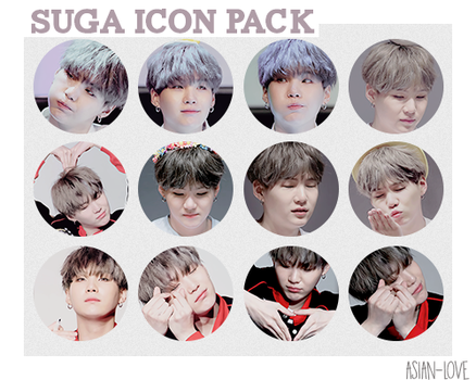 Icon Pack BTS (SUGA) by Asian-Love