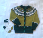 Knitted green jacket for toddlers by ToveAnita