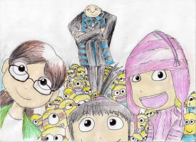 Despicable Me and Them...Us by hewhowalksdeath