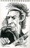 Keith Richards by donaldmatlack