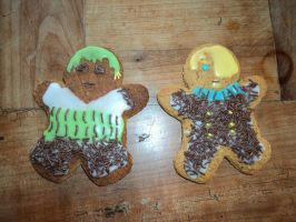 Zoro and Sanji - Gingerbread by MichaelSilverleaf