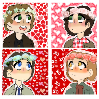 Supernatural Matching valentines profile pictures by WeridLemonade0
