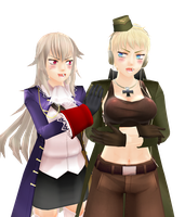 MMD:Fem Germany and Fem Prussia by ciripahn
