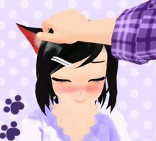 MMD GIF - Pet me by vKaibaRidayv