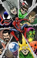 Spider-Man and his Rogues Colored by thEbrEEze