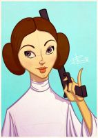 Princess Leia (Sketch Dailies) by patrickianmoss