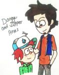 Adult Dipper and His Son (Request) by MadhouseFunhouse