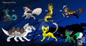 Adoptables NEW by BarkinWeasel