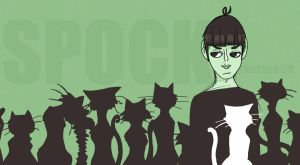 Spock prefers PUSSY...cats by OCaptainMyCaptain