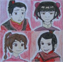 Young Fire Nation by sleepyzebra