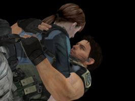 resident evil - Chris and Jill by lealea25