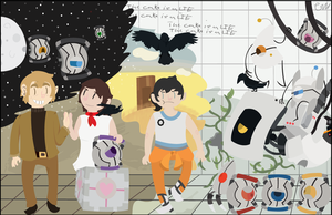 Portal 2 anniversary by Gimeurcookie