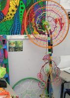 spiral wheel and dreamcatchers by kingofthejellyfish