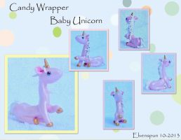 Candy Wrapper Baby Unicorn by MalaCembra