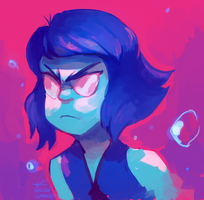 Lapis Ain't happy by MusicalCombusken