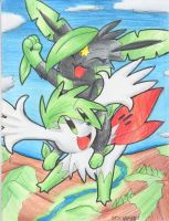 Art Trade: Bri and Shaymin by PachirisuLuva
