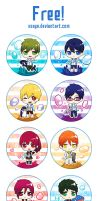 Free iwatobi and eternal summer badges by Xsaye