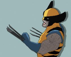 Old Wolvie X-men by MollyD