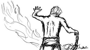 346 - Fire Dancer Study by Shasel