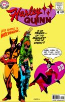 Harley Quinn swoons over Wolverine! by Gwhitmore