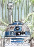 Star Wars GF - R2-D2 Sketch Art Card 2 by DenaeFrazierStudios