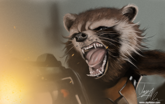 Rocket Raccoon by TheLoner4Life