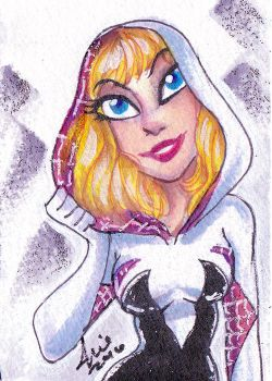 Spidergwen sketchcard 7 by mainasha