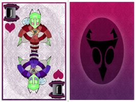 Invader Poker- Jack(Hearts) The Tallest by NeoWolfgang