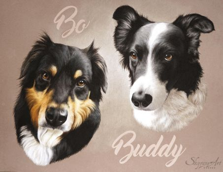 BO and BUDDY by skyzune ART by SKYZUNE-CREATION