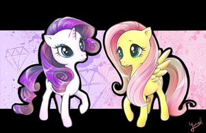 Rarity n Fluttershy by Yoruel