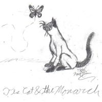 The Cat and the Monarch by SekerAsar