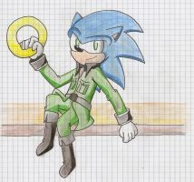 Sonic. in clothes. by Ad1er