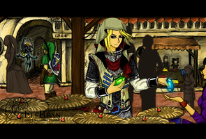 X.OVER @ One day in Hyrule... by ElfBean