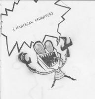 Maniacle Laughter by LittleDende