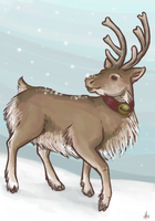 reindeer holiday card 08 by theRast