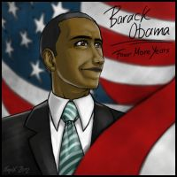 Barack Obama - Four More Years by NaguX