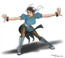 Chun Li Crouching Tiger by takemina