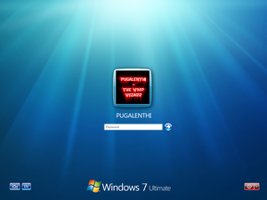 Windows 7 Login Screen
