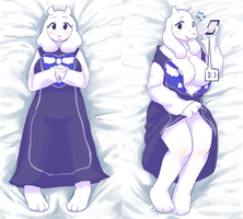 toriel dakimakura by the-chinad011-house