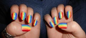 Rainbow Stripes by Boo-tastic