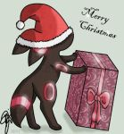 Merry Christmas Umbreon by oOCrazyKittyOo