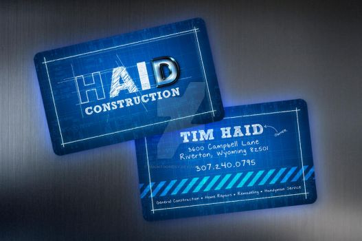 Construction Business Card by smontgomery