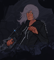 doodling kairi with the binary tool is therapeutic by hyamara