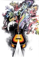 Pink Floyd Guitar Tattoo by XxCrimson-MoonxX