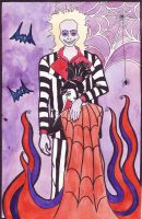 Beetlejuice and Lydia by TinaGrey