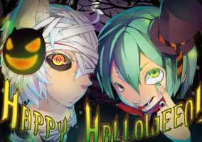 Happy Halloween 2010 collab by CottonCandyStar