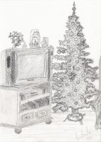Living room in Christmas by ayako-chibi-chan