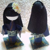 3D Origami Kid Prize Doll - Girl with Long Hair by mihijime