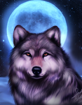 The moon by TheMysticWolf