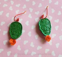 Calavera Earrings by CantankerousCupcake
